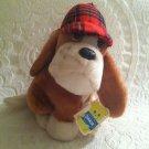 "10"" DAKIN 1978 Nature Babies Shylock Basset Hound Dog Plush Stuffed Detective"