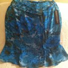 "Norton Mcnaughton ""Social Lite"" Blue Floral Knee Length Skirt Womens 8 NWT"