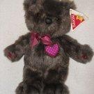 "Vintage 1987 plush 12"" Dakin Small Bradford the brown bear stuffed w/ tag"
