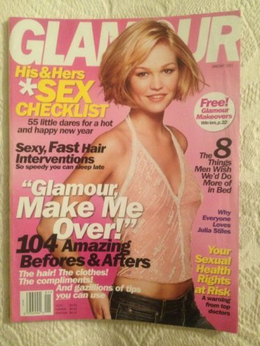 Glamour Magazine January 2003 Julia Stiles & Sex Checklist & Make Me Over