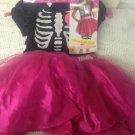 NEW Target Exclusive Halloween Barbie Skeleton Heart Costume Girls S