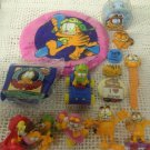 Large Lot Garfield Toys Watch VTG McDonalds Frisbee PVC Pin Odie Pookie Wendys