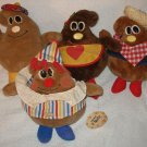 Lot 4 VTG Tag Nestle plush morsels Semi-Sweetie Scotchy P. Nutty Milky stuffed