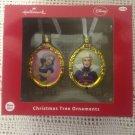 Hallmark Disney Snow White & Evil Queen Blown Glass Christmas Ornament Set