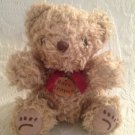 "8"" Bare Traps Shoes Light Brown Teddy Bear Plush Stuffed VGUC"