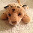 "9"" 2001 K & M International Plush Stuffed Leopard Beanie EUC"