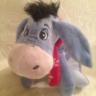 "10"" Disney Winnie The Pooh Plush Stuffed Eeyore Wearing Red Scarf"