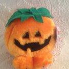 "4"" Swibco Puffkins Plush Stuffed 1997 Gourdy Halloween Pumpkin Jack-O-Lantern"