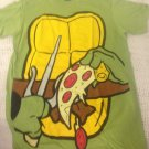 NEW Mens XL TMNT Body W/ Pizza Green T-Shirt Halloween Costume