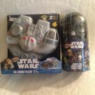 Lot Mighty Beanz Star Wars Millennium Falcon & Darth Vader Tin Exclusive Case