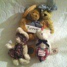 Boyds Bears Lot Hannah Rabbit Friendship Warms Heart Ornament Furever Friends