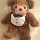 "Vintage 13"" Rare Russ Caress Soft Pets Ritz Teddy Bear Tux Shirt Plush Stuffed"