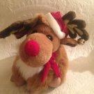 "12"" 1991 Burdines Dept. Store Exclusive Christmas Reindeer Plush Stuffed Toy"