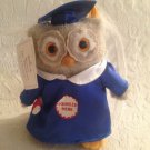 "9"" 2004 Hallmark Whoo's The Smartest? Graduation Owl Plush Pop Up Hat Stuffed"