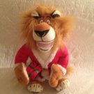 "DREAMWORKS PLUSH MERRY MADAGASCAR 15"" ALEX LION SANTA CHRISTMAS STUFFED"