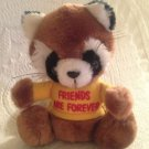 """Vintage 1980's 7"""" Russ Plush Stuffed Friends Are Forever Brown Raccoon"""