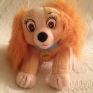 "5"" Long Mini Applause Plush Stuffed Lady & The Tramp Disney Dog VGUC"