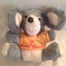 "9"" VTG 1979 Elsa Toys I'm A Happy Mouse Plush Stuffed Toy Orange Shirt"
