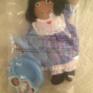 "12"" Raggedy Ann Doll Vanity Set Comb Brush Picture Frame African-American Black"