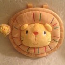 Rare Lo-zoo Plush Cloth Toddler Child Lion Backback Zip Bag VGUC