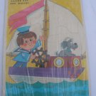 Vintage 1970 Lowe Sailor Boy and Mascot frame tray puzzle COMPLETE