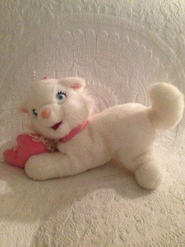 "HTF 14"" Long Disney Aristocats Plush Stuffed Marie Kitty Cat With Heart Pillow"