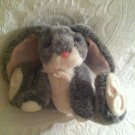 "8"" Vintage Russ Plush Stuffed Bunny Rabbit Bouncy Grey # 5798"