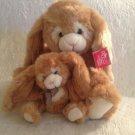 "13"" & 7"" NWT Russ Bennington Plush Stuffed Brown White Bunny Rabbit Easter Lot"
