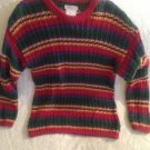 Vintage Early 1990's Esprit Kids Girls Multicolored Striped Sweater VGUC
