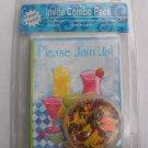 Please Join Us! Invite Combo Pack 8 invites confetti stickers address labels