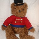 "1999 22"" plush Belk soldier Christmas brown bear stuffed Jointed arms & legs"