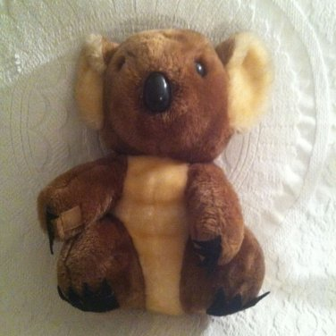 "Vintage 1978 Dakin Brown Koala Bear Plush Stuffed 12"" Mother Velcro Hands"
