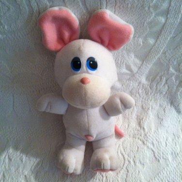 """9"""" Vintage 1980's Tonka Pet Store Pals Rare White Mouse Plush Stuffed VTG"""