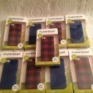 NEW Lot 9 PureGear Soft Shell iPhone 5 Case Blue & Red Plaid For Apple