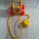 Vintage 1970 Fisher Price Peek A Boo Block Pull Along Toy # 760 Pop Up Baby