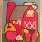 Rare 1993 Fisher-Price Farm Scene Twelve Piece CardBoard Puzzle