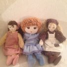 VTG Lot Upstairs Doll Azrak Hamway & Handmade Cloth Blonde Brown Blue
