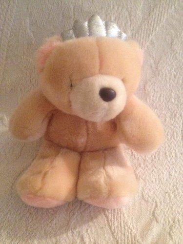 "Hallmark 8"" Forever Friends Plush Stuffed Teddy Bear Silver Crown"
