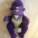 "8"" Plush Stuffed Advertising Purple Gorilka Bunches Zyrtec Pharmaceutical Promo"