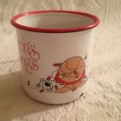 Vintage 1979 Ziggy & Fuzz Seasons Greetings Candleholder Metal Mug Cup