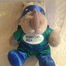 "8"" Rhinocort Aqua Nasal Spray Plush Stuffed Rhino Superhero Mascot"