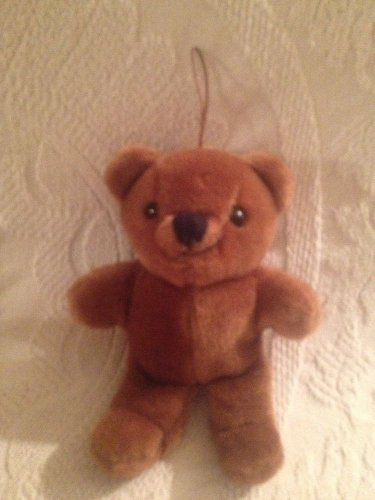 "6"" VTG 1983 Dakin Brown Teddy Bear Christmas Ornament Hanging"