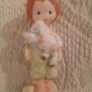 "VTG 3"" Christmas Nativity Gentle Shepherd Painted Bisque Figurine Mary Hamilton"