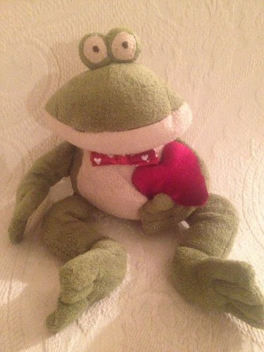 """Heritage Collection Ganz 14"""" Plush Stuff Freddy Frog W/ Valentines Day Heart"""