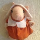 "Rare 8"" Applause VTG 1974 Betty Kane Plush Stuffed Pilgrim Pink Pig"