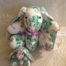 "Wonders Of Spring Lot 7"" & 3"" Brianna Bunny Rabbit Floral Plush Jointed Easter"