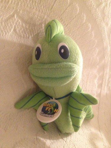 "BIG FISH GAMES 2010 Green Logo Mascot Advertising Plush Stuffed Animal Toy 9"""