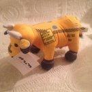 "9"" Cow Parade Yellow NYC Taxi Cab Plush Stuffed W/ Tag"