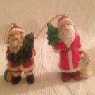 VTG Santa Ornament Lot OCI Omnibus A Fitz & Floyd Company Christmas