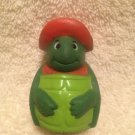"2 1/4"" Paas Easter Egg Plough Terrence Turtle Finger Puppet Advertising Mascot"